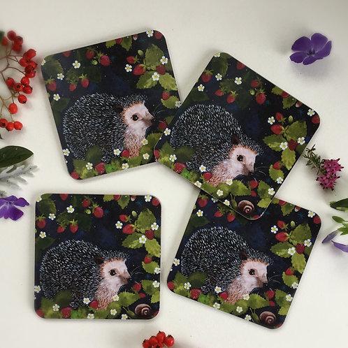 Set of 4 Rosie Hedgehog Coasters