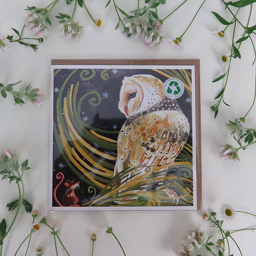Wholesale Lucky Barn owl, card