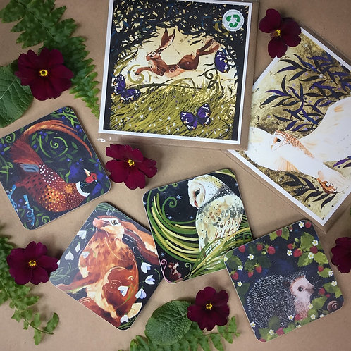 Mother's day gift set, cards & coasters!