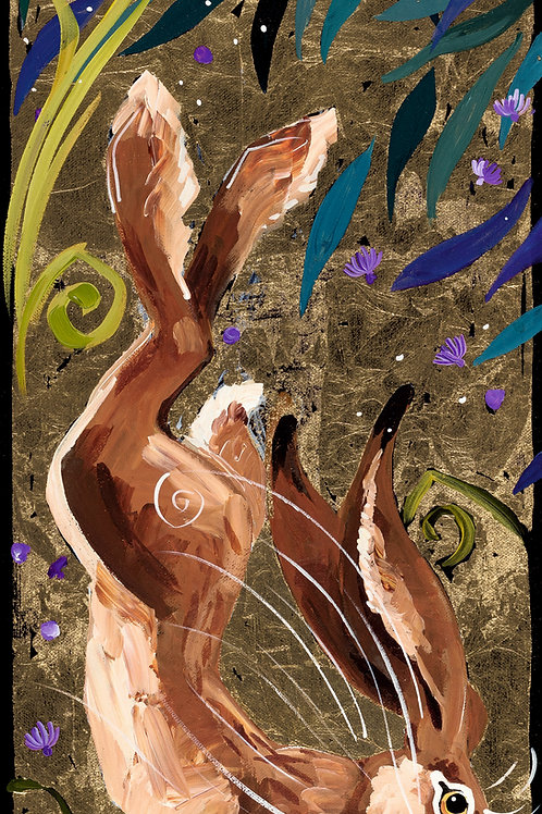 SOLD Thunder foot hare, original canvas