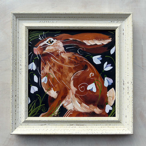 Harriet hare, original oil painting SOLD