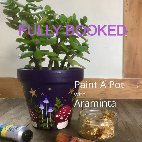 Paint a Plant Pot, Painting Workshop, 30th May, 10am