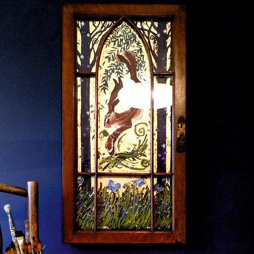Hieronymus Hare, ORIGINAL up-cycle painting