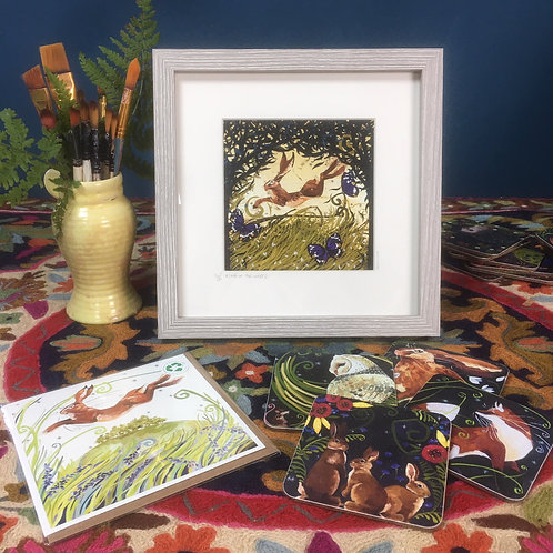 Mother's day gift set, framed print, card and coasters!