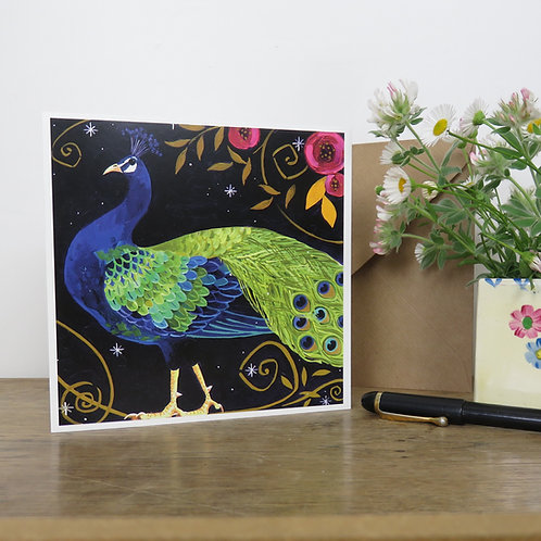Peacocky Peacock, Card