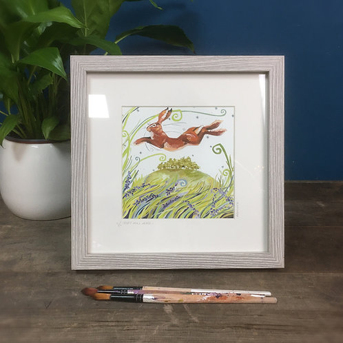 May Hill Hare, hare framed boxed print