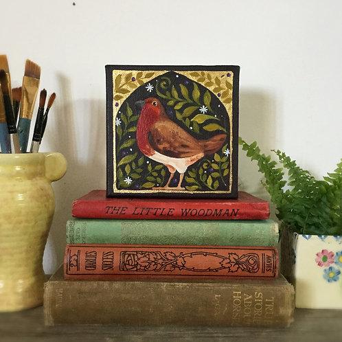 Brave Robin, ORIGINAL painting