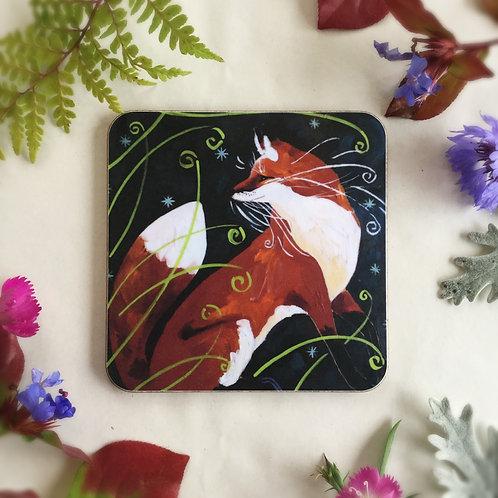 Fine Foxy Coaster