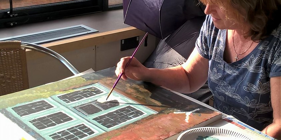 Adults Painting Workshop at The ROSES Theatre, Tewkesbury (1)