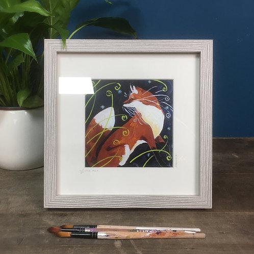 Fine Fox, fox framed boxed print