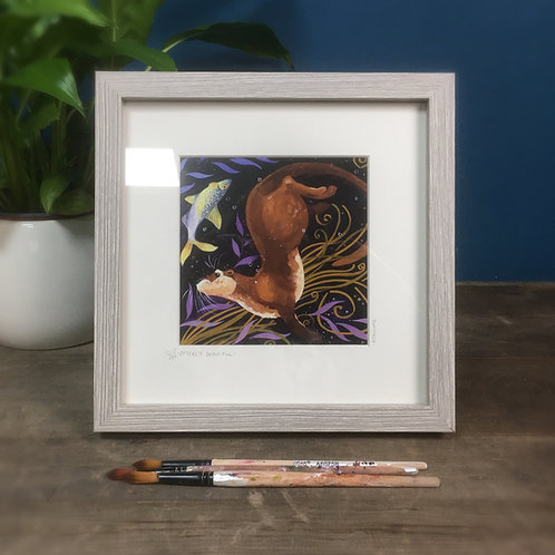 Otterly Beautiful, otter framed boxed print