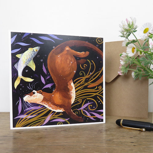 Otterly Fantastic Otter, Card