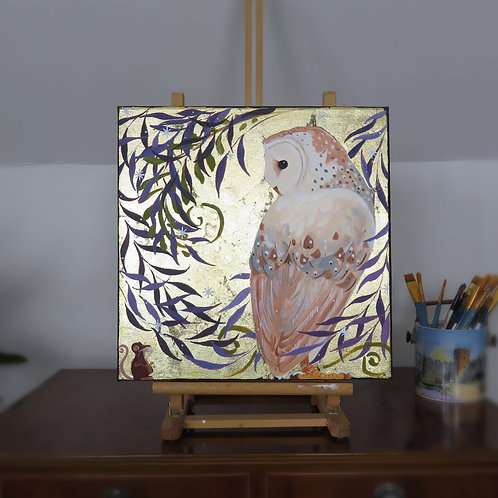 Wholesale Lucky Barn Owl Original Canvas