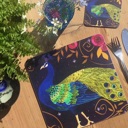Peacocky Peacock, Table/Place Mat