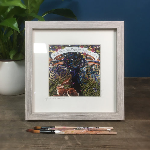 The Earth Has Music... /Hare, framed boxed print
