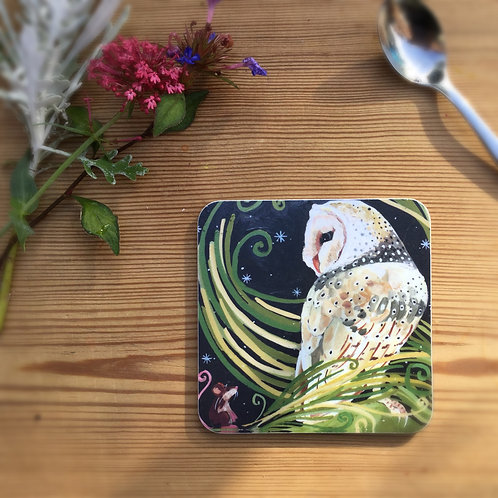Wholesale Barn Owl coaster