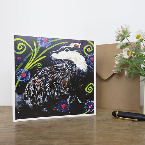 Beautiful badger, card