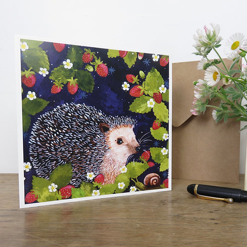 Rosie hedgehog, card