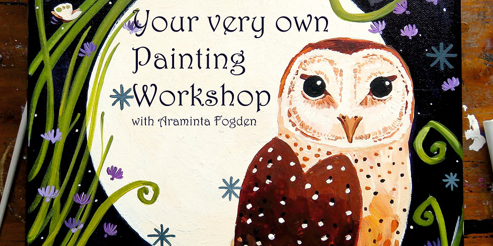 For the KIDS, paint your own Halloween Owl