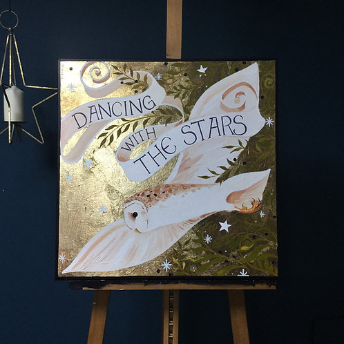 Dancing with the stars,  ORIGINAL oil on canvas