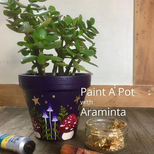 Paint a Plant Pot, Painting Workshop, 15th July, 10am