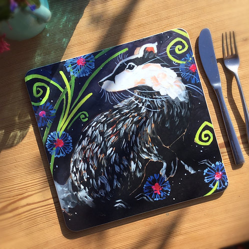 Beautiful Badger Table/placemat
