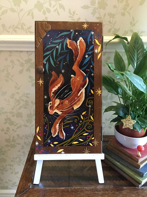 Watch me Prance, ORIGINAL up-cycle painting