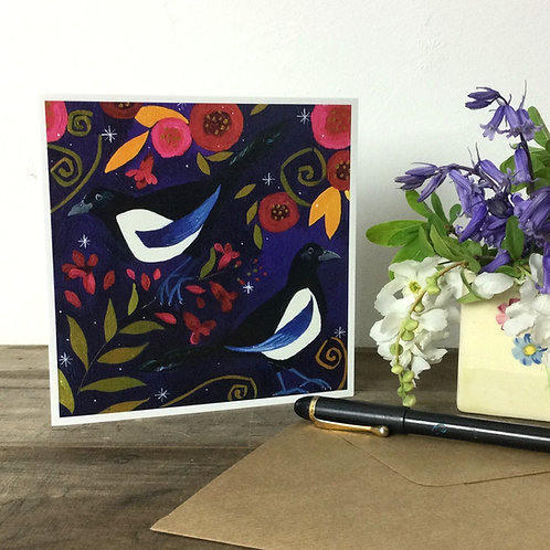 Two For Joy, Magpies!  Card