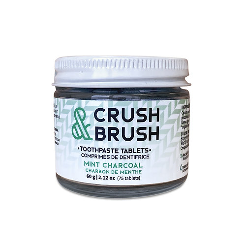 Crush & Brush - Toothpaste Tabs - Mint/Charcoal