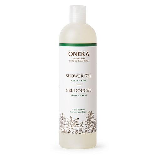 Oneka Shower Gel – Cedar & Sage