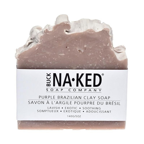 Buck-Naked Soap Bars - Purple Brazilian Clay