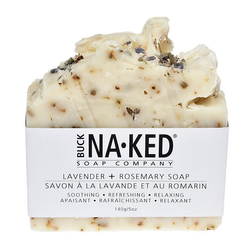 Buck-Naked Soap Bars - Lavender + Rosemary