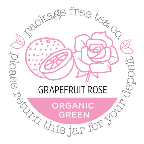 Organic Grapefruit Rose Green Tea