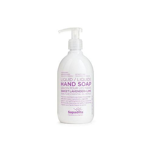 Sapadilla Hand Soap - Sweet Lavender + Lime