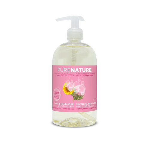 Pure Nature Body & Hand Soap - Rosewood/Geranium