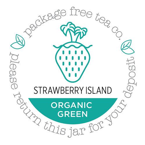 Organic Strawberry Island Green Tea