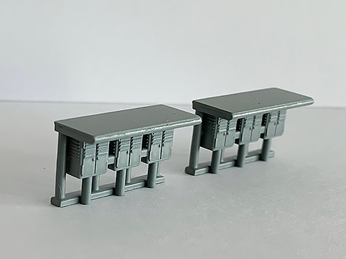 N scale sheltered fuse cabinets