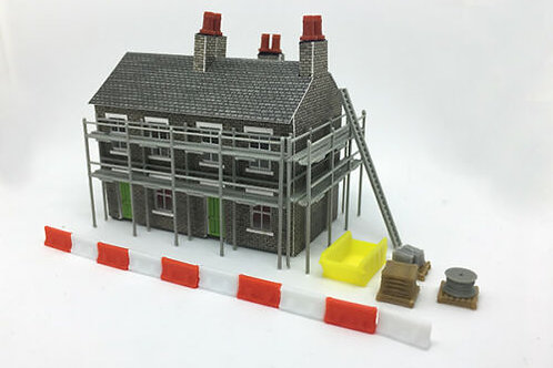 N scale scaffold Building site