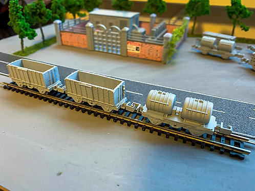 N Scale Dummy Wagons pack of 4 High Detail