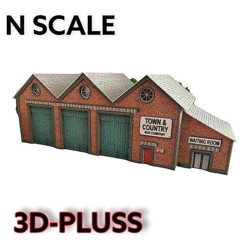 N Scale Bus Depot