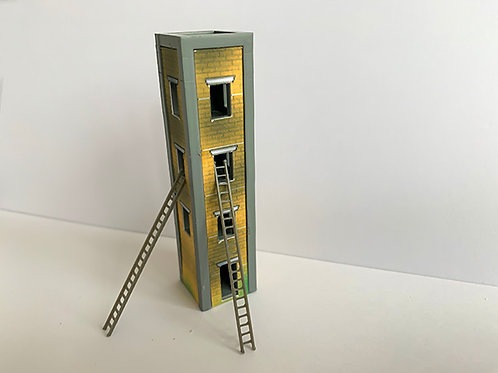 N Scale fire training tower