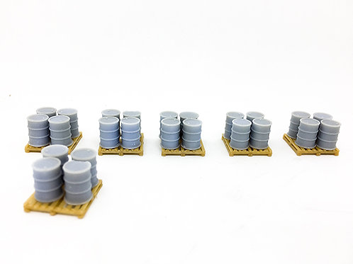 3D-Pluss N Scale Oil Drums With Pallets