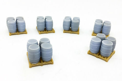 1:76 OO Scale 24x Beer Barrels with Pallets