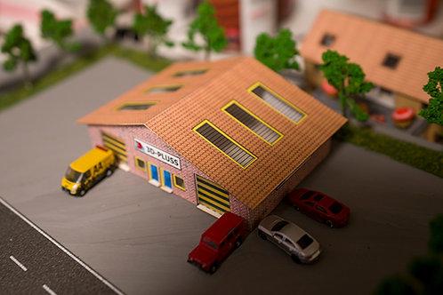 N Scale Industrial warehouse