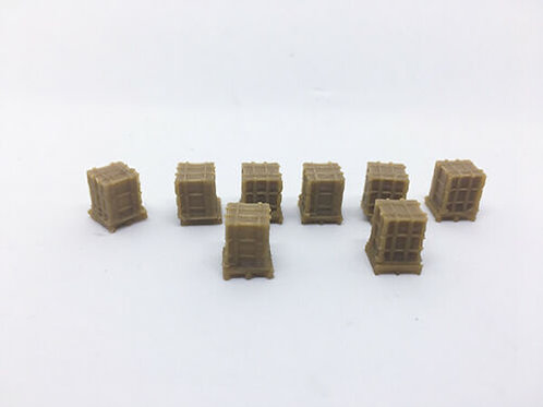 N Scale Shipping crates with Pallets