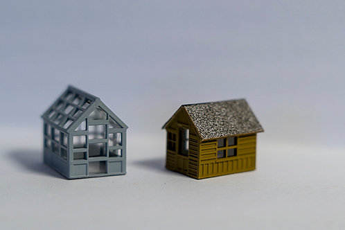 N Scale Garden Shed & Greenhouse