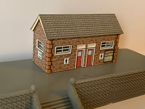 N Scale Toilet block