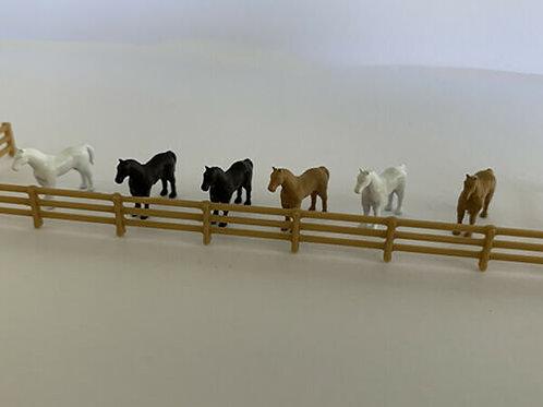 N Scale horses
