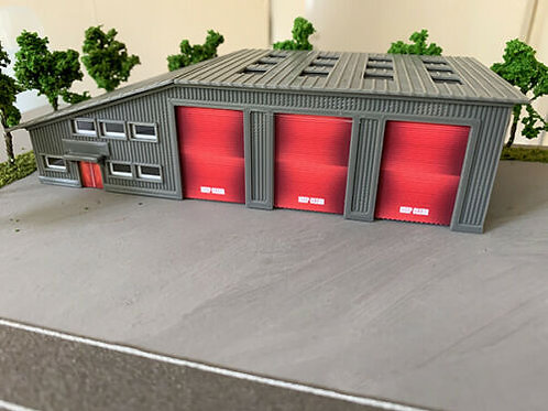 N Scale Bus depot/Warehouse