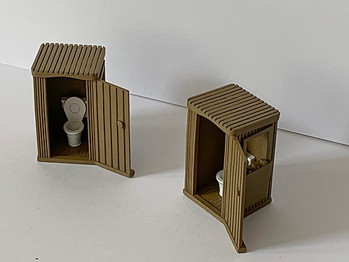 OO Scale Trackside toilets